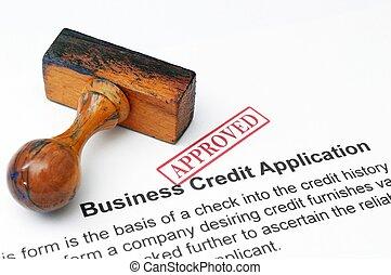 クレジット, 適用, -, 公認