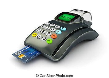 クレジット, 3d, カード, pos-terminal