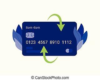 クレジット, card., 支払い
