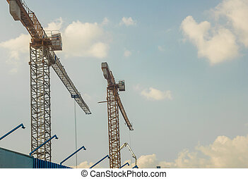 クレーン, 建設