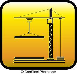 クレーン, 建設, 黄色の符号