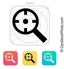 クロスヘア, icon., magnifier