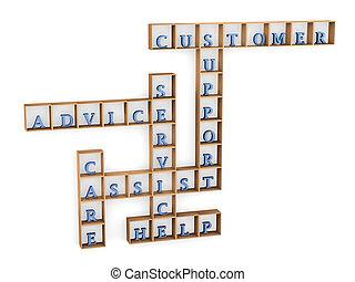 クロスワードパズル, サポート