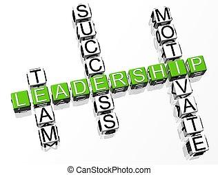 クロスワードパズル, リーダーシップ