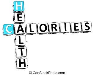 クロスワードパズル, 健康, カロリー, 3d