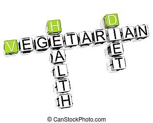 クロスワードパズル, 菜食主義者, 食事