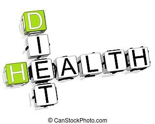 クロスワードパズル, 食事, 健康
