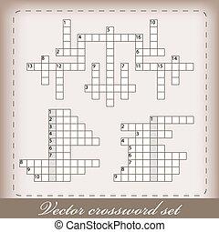 クロスワードパズル, 3, ベクトル, セット
