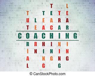 クロスワード・パズル, concept:, コーチ, 勉強