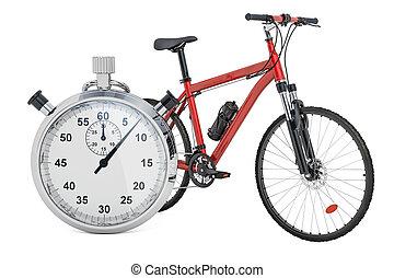 クロノメーター, レンダリング, 自転車, 3d