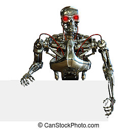 クロム, 端, ロボット, 印