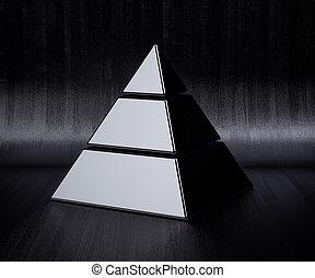 クロム, 金, ピラミッド, 隔離された