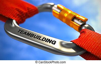 クロム, carabine, ropes., 赤, teambuilding