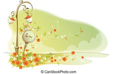 クローズアップ, の, 花