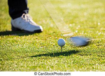 クローズアップ, ゴルフ, ball.