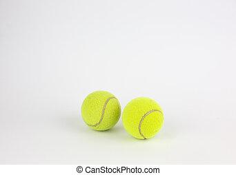 クローズアップ, ボール, テニス, 2, 隔離された, 背景, 白