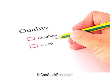 クローズアップ, 品質, テスト