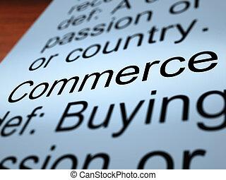 クローズアップ, 商業, 提示, 取引, 定義