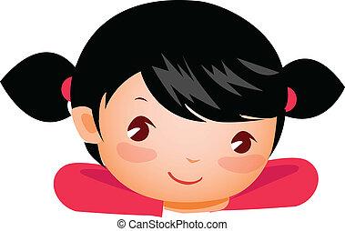 クローズアップ, 女の子の微笑
