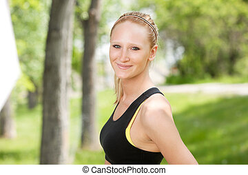 クローズアップ, 女性の 微笑