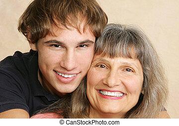 クローズアップ, 母 及び 息子