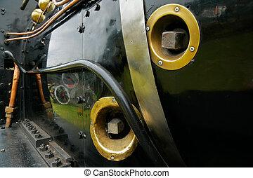 クローズアップ, 蒸気, 機関車
