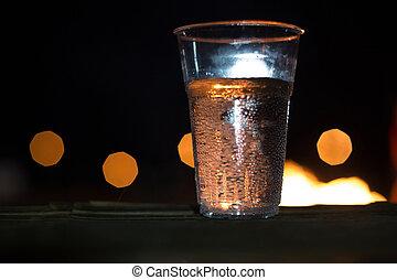 クローズアップ, 飲みなさい, 氷 立方体