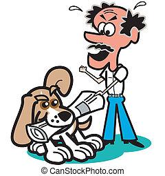 グラフィックアート, 犬, クリップ