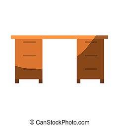 グラフィック, オフィス, カラフルである, 木製である, なしで, 机, 影で覆うこと, 輪郭