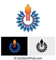 グラフィック, カラフルである, 抽象的, -, イラスト, ベクトル, 従節, リーダー
