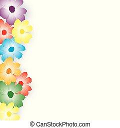グラフィック, カラフルである, 春, -, デザイン, 花, 花