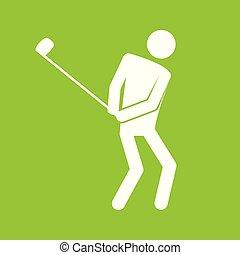 グラフィック, ゴルフ, 数字, シンボル, イラスト, ベクトル, スポーツ