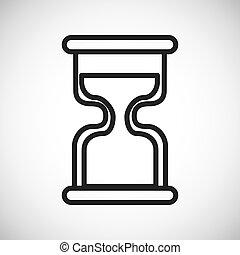グラフィック, シルエット, hourglass., ベクトル, アイコン, design.