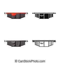 グラフィック, シンボル。, toolbag, 隔離された, 道具ベルト, stock., ベクトル, アイコン, オブジェクト