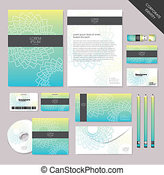 グラフィック, セット, 抽象的, ベクトル, デザイン, 企業イメージの統一戦略