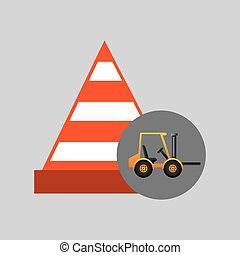 グラフィック, ミキサー, コンクリート, 警告, トラック, アイコン