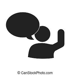 グラフィック, 人, コミュニケーション, 話し, ベクトル, 社会, アイコン