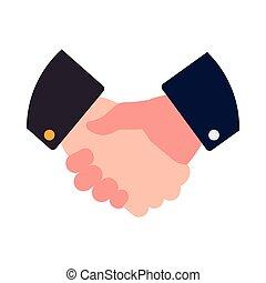 グラフィック, 取引, ビジネス, 手, ベクトル, 振動, icon., ジェスチャー