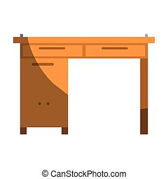 グラフィック, 影で覆うこと, カラフルである, 木製である, なしで, 机, 家, 輪郭