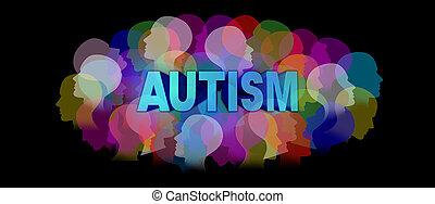 グラフィック, 概念, autism