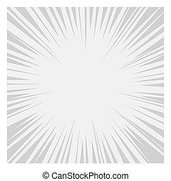グラフィック, 漫画, ライン, effects., ベクトル, 放射状, スピード