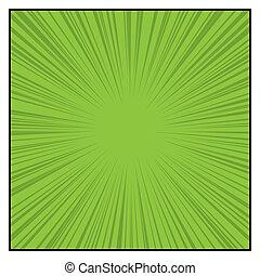 グラフィック, 漫画, ライン, effects., 色, ベクトル, 放射状, スピード