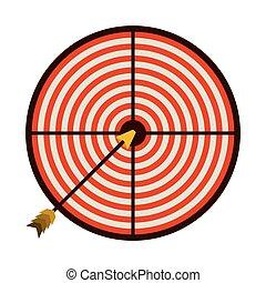 グラフィック, 矢, カラフルである, 背景, 白, ターゲット