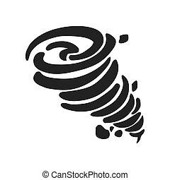グラフィック, 自然災害, ベクトル, icon., より手, design.