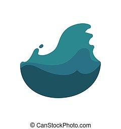 グラフィック, 自然災害, 洪水, ベクトル, icon., design.