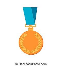 グラフィック, 金, 賞, ベクトル, メダル, アイコン