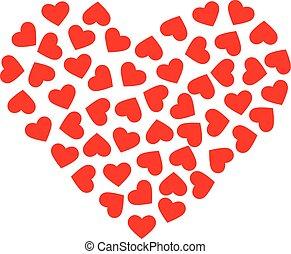 グラフィック, heart., 大きい, パターン, ベクトル, デザイン, できる, 心