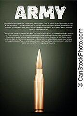 グラフィック, poster., テンプレート, 軍隊