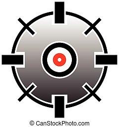グラフィック, reticle, ターゲット, 印, 十字照準線, ベクトル