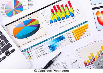 グラフ, チャート, ビジネス, テーブル。